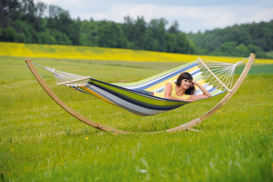 Star Set hammock with wooden stand