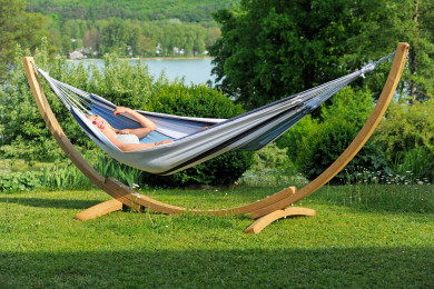 Apollo Set hammock with wooden stand